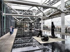 Pompidou Centre, Paris, France (duaneschermerhorn) Tags: architecture building structure architect modern contemporary modernarchitecture contemporaryarchitecture sculpture museum gallery art artists artwork water pool urban complex
