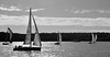 Sunset yachts BW (PhillMono) Tags: nikon dslr d7100 new south wales australia sydney harbour yacht sail sailing boat vessel ship reflection sea sky sun sunset silhouette black white monochrome sepia creative perspective imaginative