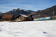 """MOB ABDe 8/8 4001 """"Schweiz"""" mit Regionalzug bei Gstaad (eisenbahnfans.ch) Tags: 2224 4001 abde88 goldenpass gst gstaad mob mxzw regio regionalzug saan saanen schweiz suisse trainrégional"""