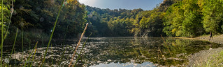 Lake in an old basalt quarry