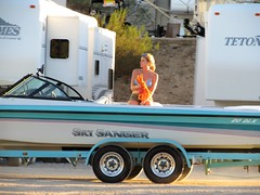 Weekend's over (thomasgorman1) Tags: trailer boat campers trailers street streetphotos woman candid public canon arizona tires recreation weekend boating