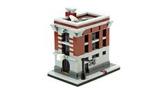 Firehouse Headquarters (Ghostbusters) (de-marco) Tags: lego mini modular town city fire corner building house