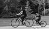 Mother & Son, Morton Arboretum. (EOS) (Mega-Magpie) Tags: canon eos 60d morton arboretum lisle dupage il illinois usa america people person mom mother son child lady boy dude bw black white mono monochrome bike bicycle outdoors
