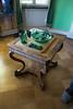 Antique table and green glass (quinet) Tags: 2017 antik charlottenhof germany potsdam tisch ancien antique table brandenburg 276