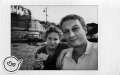 Me and my daughter (031217001) (francescoccia) Tags: daughter portrait selfie focaccia recco monochrome fuji fujifilm instaxmini instant instax blackwhite bw bn francescoccia analogue analog