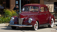 1940 Ford Deluxe Coupe (Pat Durkin OC) Tags: 1940ford deluxe coupe whitewalltires maroon staggeredtiresizes