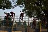 After school (sanat_das) Tags: kolkata rabindrakanan rabindrasarani afterschool schoolboys scaling parkfence scenesfromthestreet streetphotography d800 28300mm