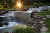 Waterfall with sunflare. (glhs279) Tags: waterfall water sun sunflare alabama sunset manmade hamptoncove nikon d600 flowers waterblur blur longshutter slowshutter neutraldensityfilter ndfilter