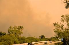Up Highway 126 (hecticskeptic) Tags: thomasfire ventura california smoke fire gloom highway126 highway101 surferspoint markamorgan december52017