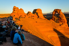 Photographing Delicate Arch at sunset (bumeister1) Tags: arches archesnationalpark delicatearch utahtrip2017 redrock utah nikon landscape fall autumn