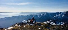 Snow Bike ride to Salmon River Canyon Overlook (Doug Goodenough) Tags: bicycle bike cycle pedals spokes surly ecr maxis chronicles rohloff hub 29 plus snow dec waha idah lewiston december 17 2017 vista view canyon river drg53117 drg53117p drg531