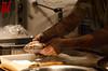 Butter, Mehl und Milch verrühren, zwischendurch einmal probieren... (blinority) Tags: weihnachtsmarkt bäcker handwerk karlsruhe