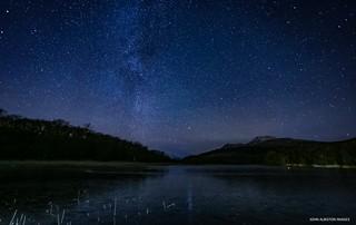 The Dubh Lochan, Sallochy Wood with Ben Lomond & The Milky Way