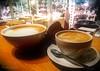 Coffee break for two ☕ ☕ (evakongshavn) Tags: flickrfriday coffeebreak coffee somethingsweet flatwhite latte cortado beverage drink