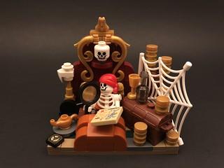 Pirates of the Caribbean Lego MOC - Captain's Quarters Vignette