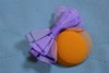 Bag & Bow (deanrr) Tags: macromondays buttonsandbows tote fabric mini tricolor orange blue multipleexposure macro indoor lavender lavenderbow orangebutton button bow purple texture woven