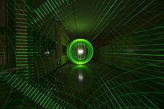 Energy 330 (Sven Gérard (lichtkunstfoto.de)) Tags: lightpainting light lights painting art lightartphotography sooc orb green laser camerarotation kinetic