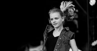 Jumping streetdance girl.