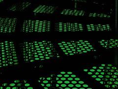 Toxic Grid (clarkcg photography) Tags: green greenblack black grid deck playground metal holes blue sky greenshift crazytuesdaytheme tuesdaycrazytheme 7dwf