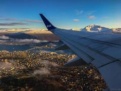 Tromsö (Mikesch.75) Tags: tromsö troms norway norwegen sas flight fjord blau blue snow schnee