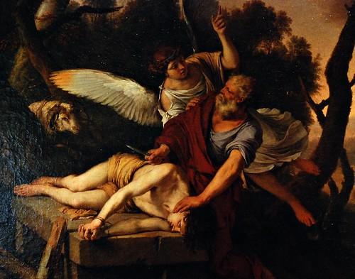 13 - Reims - Musée des Beaux-Arts - Laurent de la Hyre, Le Sacrifice d'Abraham, Huile sur toile, 1650 - Détail