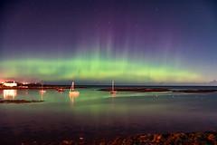 Groomsport Rays (Eskling) Tags: aurora borealis northern lights codown ireland groomsport northdown sea sky boats night