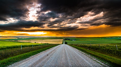 DSC_3180 (Rinathq) Tags: prairies alberta sunset canada calgary 2017 landscape nikon road clouds stormy green colors wideangle tokina