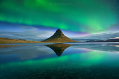 God's Light (FredConcha) Tags: kirkjufell northernlights aurora stars night fredconcha nikond800 landscape nature iceland reflections mountain cliffs rocks river