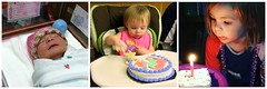 Happy Birthday, Annabelle! (genesee_metcalfs) Tags: collage granddaughter birthday baby cake candle