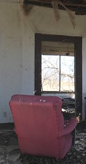 "Partial""Man Cave"" (jwollardjr) Tags: incomplete cave man deserted panhandle texas chair relic"