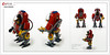 Raptor series: Space firemen powersuit (Brixnspace) Tags: raptor walker frame powersuit suit lego moc toy biped space fire team firemen rescue bot