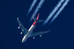 Martinair Cargo Boeing 747-412(BCF) PH-MPS (Thames Air) Tags: martinair cargo boeing 747412bcf phmps contrails telescope dobsonian overhead vapour trail