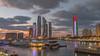 UAE National Day skyline (Jhopne) Tags: canonef2470mmf28lusm canoneos5dmarkii platinumheartaward abudhabi uae cityscape etihadtowers uaenationalday skyline water marina citylights sunset grouptripod