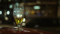 Moretti (Sean Batten) Tags: london england unitedkingdom gb drink beer glass night nighttime nikon df 50mm red city urban