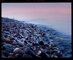 The Touch (tsiklonaut) Tags: pentax 67 6x7 67ii film analog analogue analogica analoog 220 roll medium format fuji fujifilm velvia 50 rvp slide dia positive e6 hunt chrome 6x lake rocks long exposure baikal järv baikali russia russian landscape dusk dawn sunset water wave smooth bokeh dof travel discover experience abstract drum scan drumscan scanner pmt beach shore touch touching feel