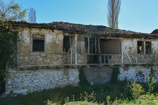 AIZONAI Ancient City.  Cavdarhisar/Turkey.  Old Houses