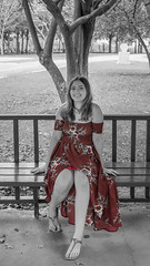 Red dress (Moondoggy_33) Tags: boricua puerto rico quinceanera vestido rojo red dress