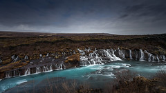 Take me to the river (Mika Laitinen) Tags: canon5dmarkiv europe hraunfossar iceland leefilters cloud color landscape nature outdoors river rock sky water waterfall