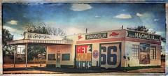 Get your kicks.... (Sherrianne100) Tags: magnolia mobileoil signs getyourkicks roadside rt66 route66 servicestation tucumcari newmexico