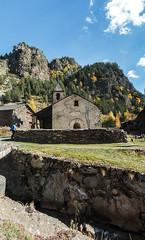 punk med kyrka (saracaja) Tags: panoramic vertical catalonia punk tourism trees river grass green sky