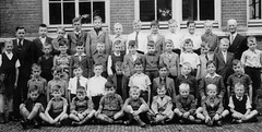 Class Photo (theirhistory) Tags: shirt jumper shoes wellies school class form holland netherlands master teacher boots pupils students education