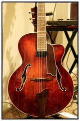 Acoustic Red (danielgweidner) Tags: guitar red photoart music acoustic instrument eastman natural strings