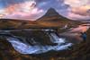 Sunset in the kirkjufell (pajavi69) Tags: kirkjufellsfoss kirkjufell iceland sunset waterfall airelibre montaña paisaje puestadesol serenidad cimademontaña roca rock cascada nikon 1224 filtro filter