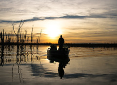 Reflections (nwitthuhn) Tags: reflection boat fisherman water trees kansas