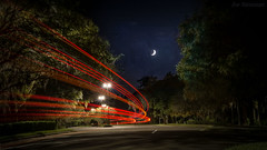 au futur (JDS Fine Art Photography) Tags: moon crescentmoon night nightsky trees nightlight illumination longexposure lighttrails magical cinematic cinema inspirational dreams