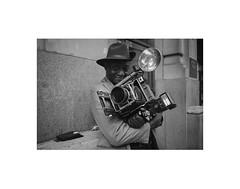 The Photographer (mgiachetti) Tags: ny newyork nyc manhattan usa america urban color blackandwhite people photography street streetphotography portrait