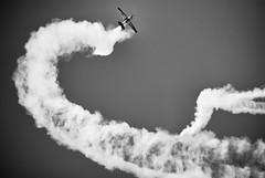 Cloud Trails (Never Exceed Speed) Tags: contrails eaaairventure airshow blackandwhite acrobatics aeroshellt6 aviation airplane