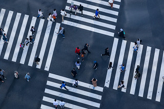 People on crosswalk