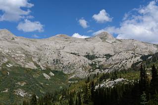 A rocky ridgeline