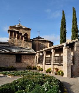 Jardin, Musée El Greco, paseo del Transito, Tolède, Castille-La Mancha, Espagne.